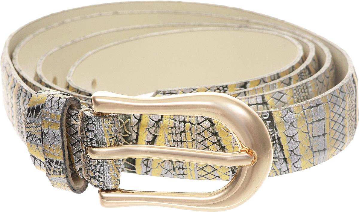 Ремень женский Vittorio Richi, цвет: серый. 1015-ZK1099/z. Размер 1051015-ZK1099/zРемень, выполненный из экокожи. Длина регулируется.
