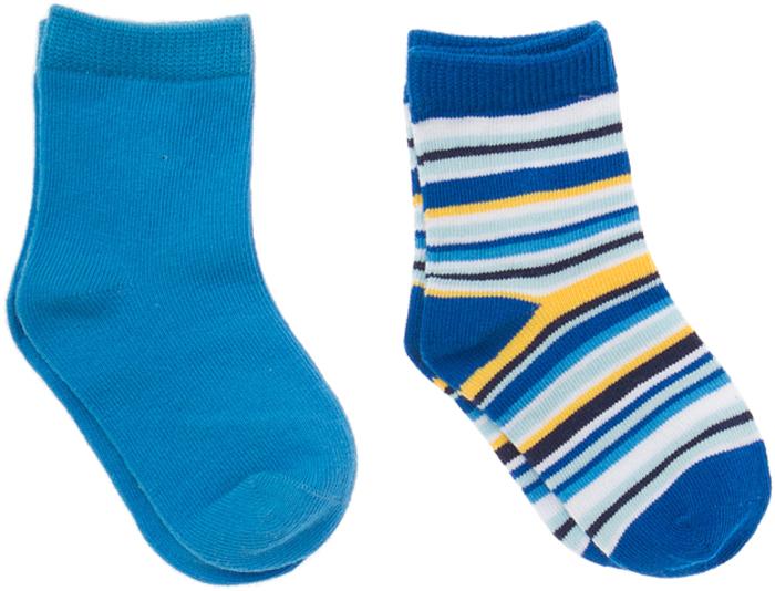 Носки для мальчика PlayToday, цвет: синий, голубой, желтый, 2 пары. 167035. Размер 11167035Носки для мальчика PlayToday, изготовленные из высококачественного материала, идеально подойдут вашему ребенку. Эластичная резинка плотно облегает ножку ребенка, не сдавливая ее, благодаря чему малышу будет комфортно и удобно. Усиленная пятка и мысок обеспечивают надежность и долговечность.