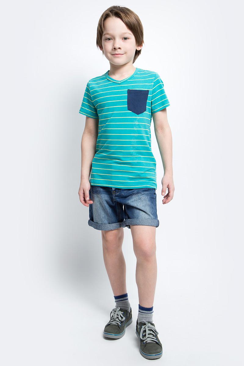 Шорты для мальчика Button Blue Main, цвет: синий. 117BBBC6003D500. Размер 158, 13 лет117BBBC6003D500Классные джинсовые шорты с потертостями, варкой и повреждениями - прекрасное решение на каждый день. И дома, и в лагере, и на спортивной площадке эти шорты для мальчика обеспечат комфорт и соответствие модным трендам. Купить недорого детские шорты от Button Blue, значит, сделать каждый летний день ребенка радостным и беззаботным!