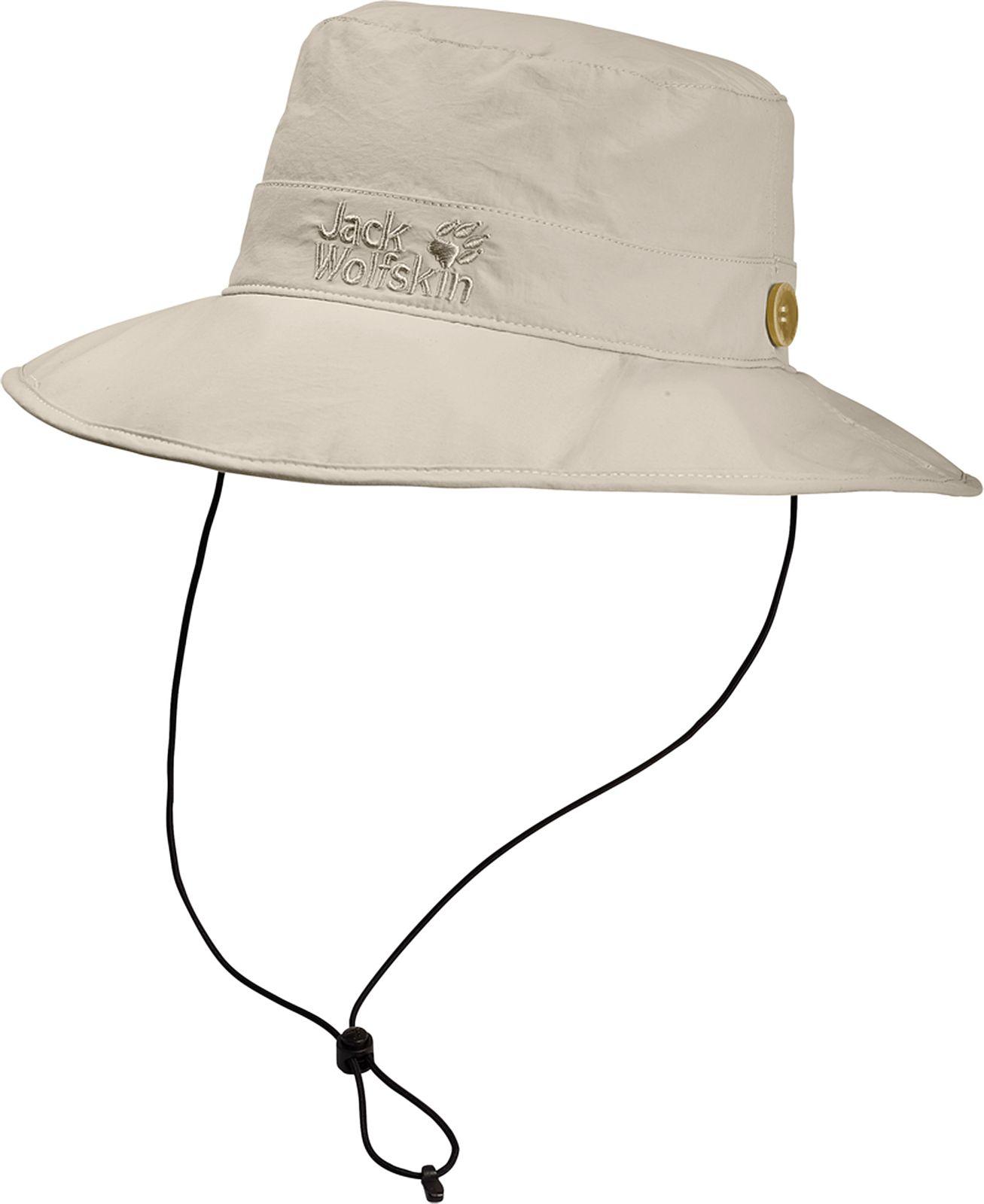 Панама Jack Wolfskin Supplex Mesh Hat, цвет: молочный. 1902042-5505. Размер M (54/57)1902042-5505Панама Supplex Mesh Hat идеально подходит для путешествий. Верх изделия выполнен из материала SUPPLEX (100% полиамид). Это легкая, мягкая и быстросохнущая ткань. Подкладка изготовлена из легкого материала COOLMAX MESH (100% полиэстер), который создает прохладу, выводит влагу наружу и обеспечивает комфорт при носке. Панама имеет широкие поля, а также обладает высокой защитой от ультрафиолета (UPF 40+), поэтому она идеально защитит вашу голову и лицо от палящего солнца. Панама фиксируется с помощью затягивающегося шнурка. Модель выполнена в однотонном дизайне и дополнена вышивкой с логотипом бренда.