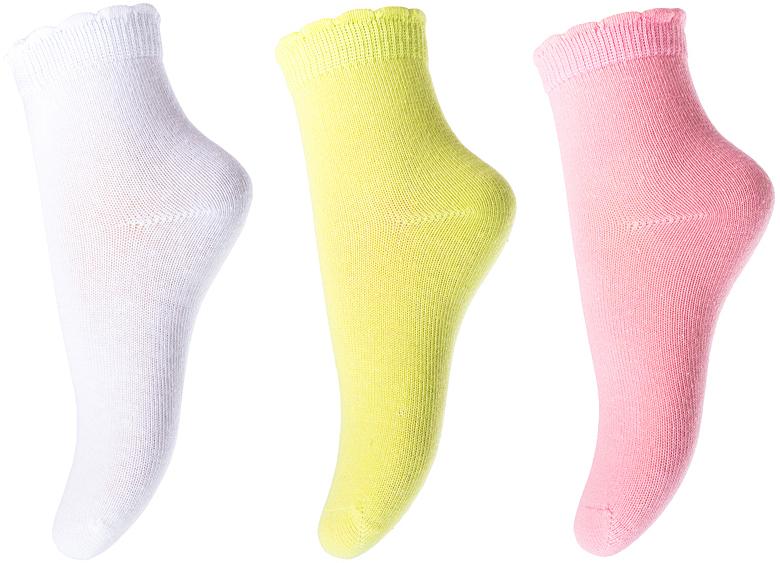 Носки для девочки PlayToday, цвет: белый, салатовый, розовый, 3 пары. 178090. Размер 12178090Носки PlayToday, изготовленные из высококачественного материала, прекрасно подойдут вашему ребенку. Эластичная резинка плотно облегает ножку ребенка, не сдавливая ее. Усиленная пятка и мысок обеспечивают надежность и долговечность.