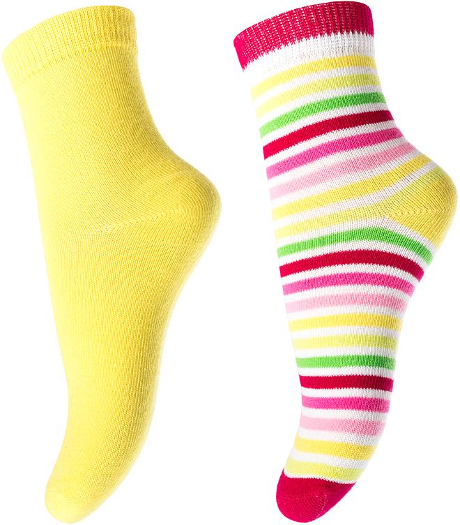 Носки для девочки PlayToday, цвет: желтый, розовый, 2 пары. 172183. Размер 16172183Носки PlayToday, изготовленные из высококачественного материала, прекрасно подойдут вашему ребенку. Эластичная резинка плотно облегает ножку ребенка, не сдавливая ее. Усиленная пятка и мысок обеспечивают надежность и долговечность.