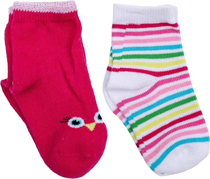 Носки для девочки PlayToday, цвет: малиновый, белый, 2 пары. 368828. Размер 11368828Носки PlayToday, изготовленные из высококачественного материала, прекрасно подойдут вашему ребенку. Эластичная резинка плотно облегает ножку ребенка, не сдавливая ее. Усиленная пятка и мысок обеспечивают надежность и долговечность.