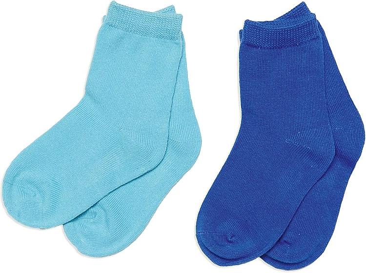 Носки для мальчика PlayToday, цвет: голубой, синий, 2 пары. 347030. Размер 11347030Носки для мальчика PlayToday, изготовленные из высококачественного материала, идеально подойдут вашему малышу. Эластичная резинка плотно облегает ножку ребенка, не сдавливая ее, благодаря чему малышу будет комфортно и удобно. Усиленная пятка и мысок обеспечивают надежность и долговечность.