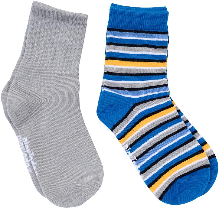 Носки для мальчика PlayToday, цвет: серый, синий, желтый, 2 пары. 361089. Размер 14361089Носки для мальчика PlayToday, изготовленные из высококачественного материала, идеально подойдут вашему малышу. Эластичная резинка плотно облегает ножку ребенка, не сдавливая ее, благодаря чему малышу будет комфортно и удобно. Усиленная пятка и мысок обеспечивают надежность и долговечность.