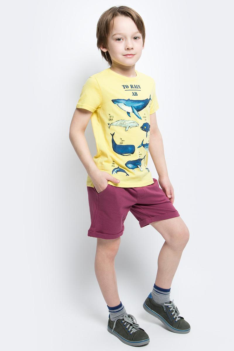Футболка для мальчика Button Blue Main, цвет: желтый. 117BBBC12022700. Размер 152, 12 лет117BBBC12022700Футболка с принтом - не только базовая вещь в гардеробе ребенка, но и основа модного летнего образа. Если вы решили купить недорогую футболку для мальчика, выберете футболку от Button Blue. Высокое качество подарит удобство, комфорт и принесет удовольствие от покупки.