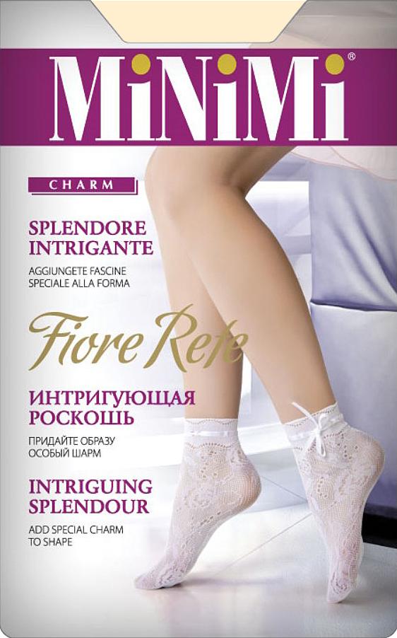 Носки женские Minimi Fiore Rete, цвет: Avorio (слоновая кость). Размер универсальныйFIORE ReteАжурные носочки с оригинальным узором и укрепленным мыском.