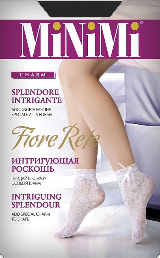 Носки женские Minimi Fiore Rete, цвет: Nero (черный). Размер универсальныйFIORE ReteАжурные носочки с оригинальным узором и укрепленным мыском.