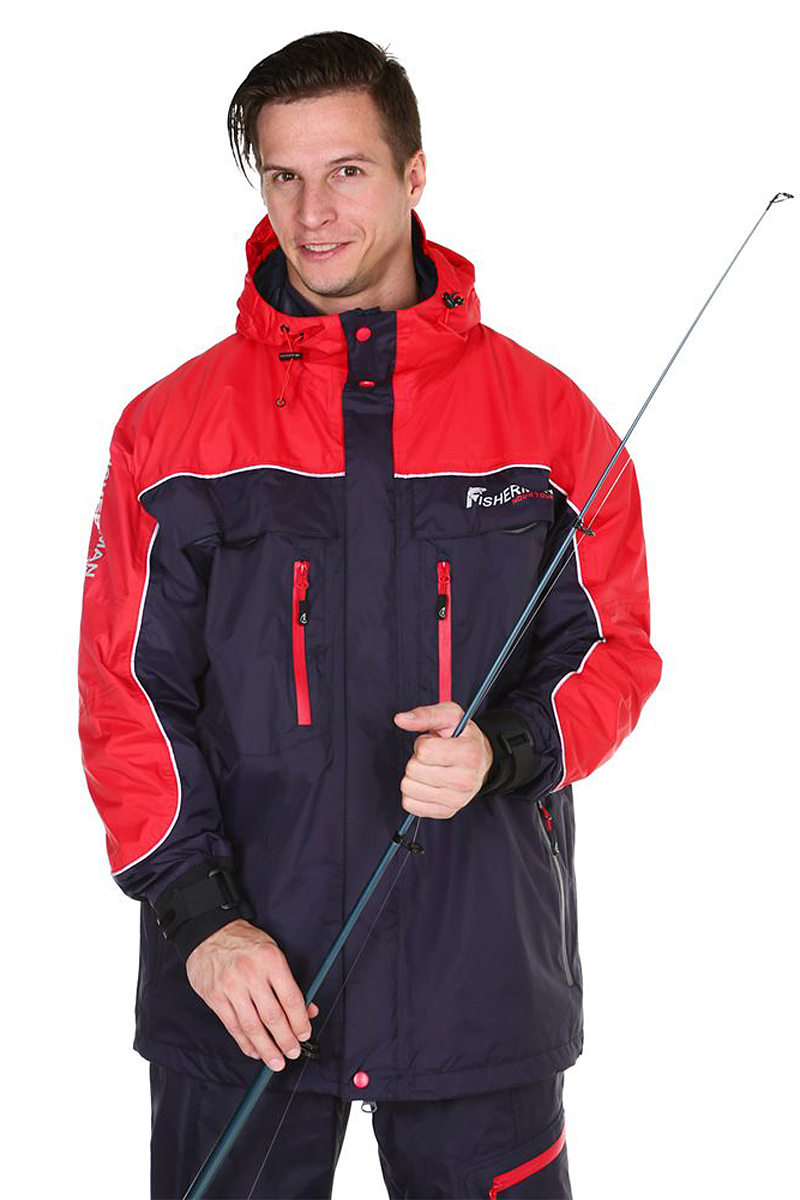 Куртка рыболовная мужская FisherMan Nova Tour Коаст PRO, цвет: графит, красный. 95428-924. Размер M (50)95428-924Удлиненная куртка FisherMan Nova Tour для любителей береговой рыбалки. У куртки анатомический крой, это обеспечивает свободу движения. Полностью влагозащищенные манжеты, вода не будет попадать внутрь в дождь или даже тогда, когда вы опустите руку в воду! Куртка с мембраной 10000/10000 и проклеенными швами, оставит вас сухим в любой дождь, а также обеспечит эффективную паропроводимость. У куртки есть карманы для рук и нагрудные карманы для необходимых принадлежностей. Если от активной рыбалки стало по-настоящему жарко, воспользуйтесь предусмотренной вентиляцией!