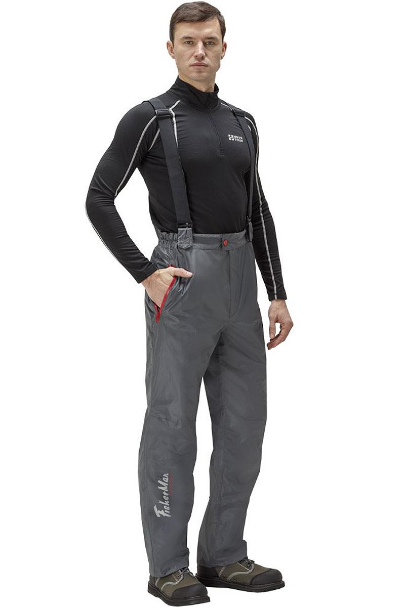 Штаны рыболовные мужские FisherMan Nova Tour Ривер V2, цвет: серый. 95936-911. Размер XXL (56)95936-911Практичные и надежные брюки FisherMan Nova Tour выполнены специально для рыбалки из качественного полиэстера. Брюки с высокой посадкой застегиваются на молнию и пуговицу. На талии ткань собрана на внутренние резинки. Изделие дополнено карманами и эластичными лямками.
