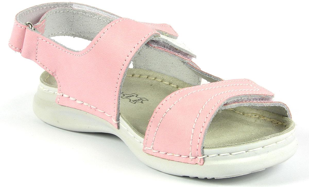 Сандалии для девочки Inblu, цвет: розовый. FR-1T. Размер 36FR-1T_розовыйМодные сандалии для девочки от Inblu выполнены из натуральной кожи. Внутренняя поверхность и стелька из натуральной кожи комфортны при движении. Ремешки с застежками-липучками надежно зафиксируют модель на ноге. Подошва дополнена рифлением.