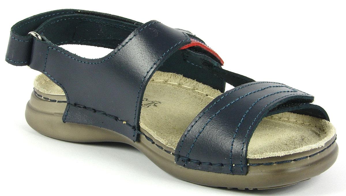 Сандалии для девочки Inblu, цвет: темно-синий. FR-1T. Размер 35FR-1T_синийМодные сандалии для девочки от Inblu выполнены из натуральной кожи. Внутренняя поверхность и стелька из натуральной кожи комфортны при движении. Ремешки с застежками-липучками надежно зафиксируют модель на ноге. Подошва дополнена рифлением.