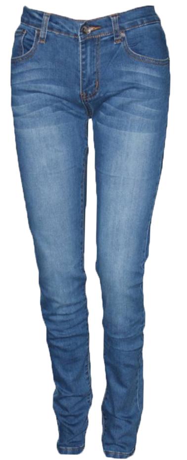 Джинсы женские Milton, цвет: синий. WZ-1001C-2. Размер 25-30 (40/42-30)WZ-1001C-2Стильные женские джинсы Milton выполнены из хлопка с добавлением полиэстера и спандекса. Материал мягкий на ощупь, не сковывает движения и позволяет коже дышать. На поясе предусмотрены шлевки для ремня. Джинсы со средней посадкой застегиваются на пуговицу в поясе и ширинку на застежке-молнии.