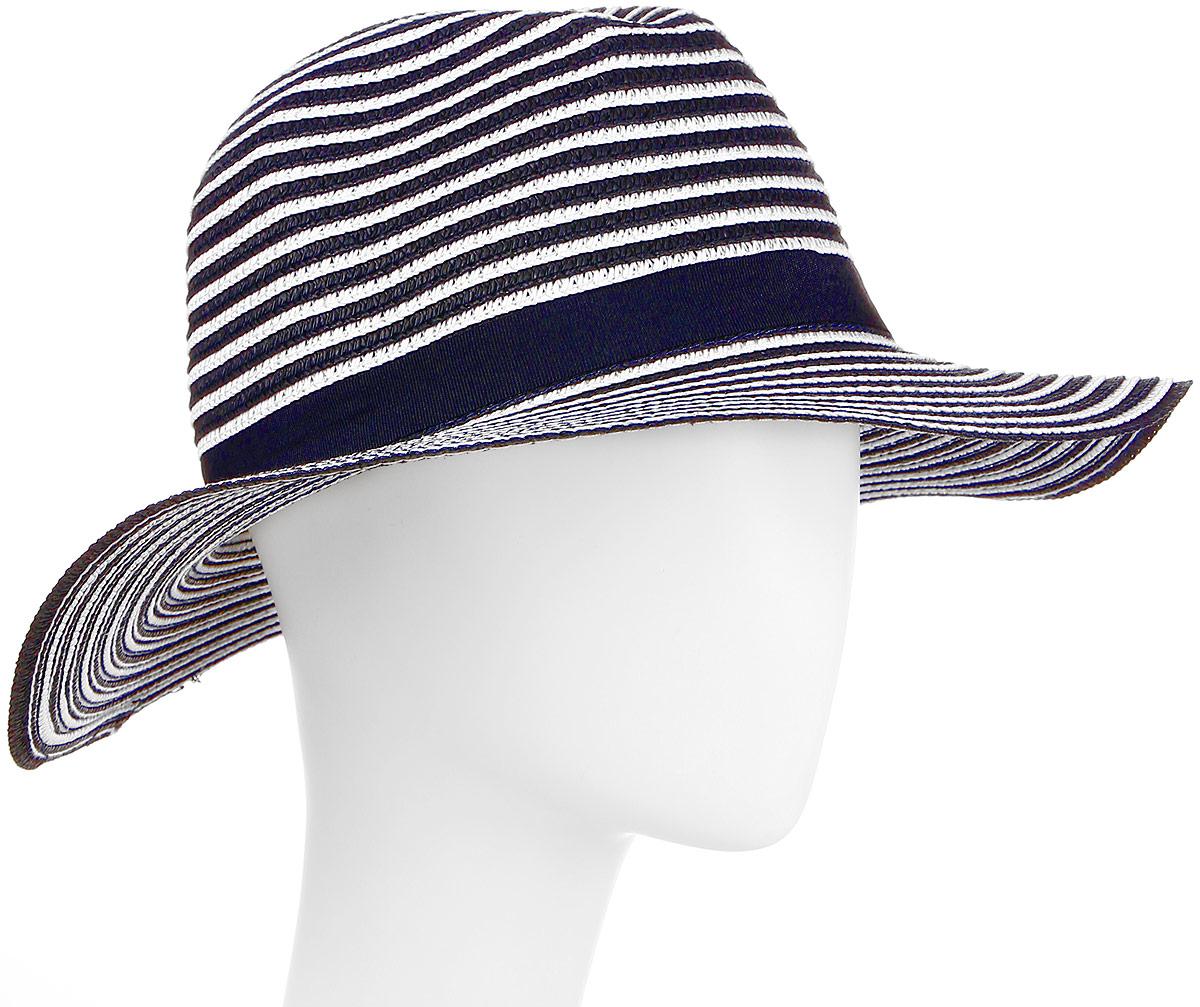 Шляпа женская Maxval, цвет: синий. HtW100290. Размер 56HtW100290Модная шляпа Maxval выполнена из качественной бумажной соломки. Шляпа с широкими полями дополнена лентой с бантиком. Эта модель станет отличным аксессуаром и дополнит ваш повседневный образ.