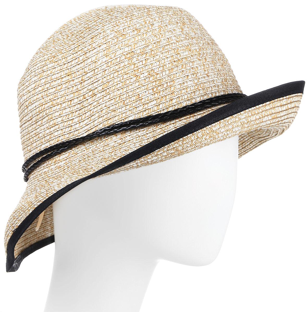 Шляпа женская Maxval, цвет: светло-бежевый. HtW100282. Размер 58HtW100282Модная шляпа Maxval выполнена из качественной бумажной соломки. Шляпа с широкими полями дополнена декоративным плетеным шнурком. Эта модель станет отличным аксессуаром и дополнит ваш повседневный образ.