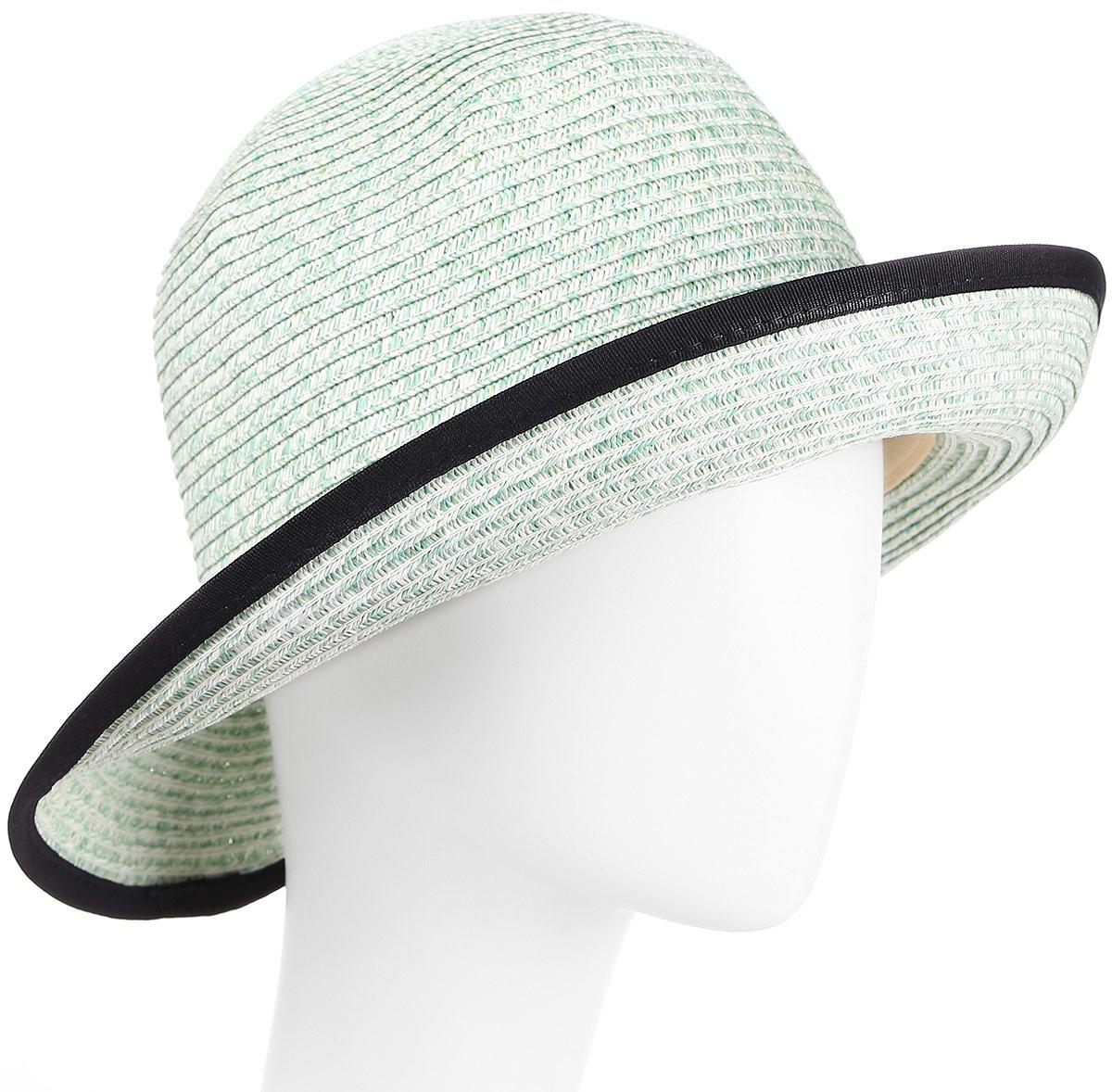 Шляпа женская Maxval, цвет: ментоловый. HtW100282. Размер 58HtW100282Модная шляпа Maxval выполнена из качественной бумажной соломки. Шляпа с широкими полями дополнена декоративным плетеным шнурком. Эта модель станет отличным аксессуаром и дополнит ваш повседневный образ.