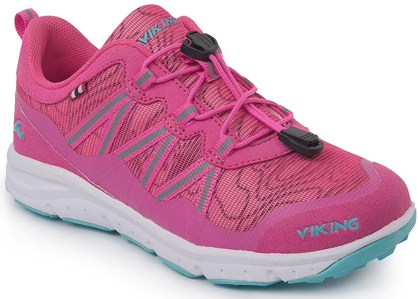 Кроссовки для девочки Viking Kollen, цвет: коралловый, розовый. 3-47670-09622. Размер 323-47670-09622Кроссовки для девочки от Viking, выполненные из дышащего текстиля, оформлены декоративной тесьмой, эмблемой и названием бренда. Модель на подъеме дополнена шнуровкой, обеспечивающей надежную фиксацию обуви на ноге. Подкладка и стелька из полиэстера обеспечат комфорт при носке. Облегченная подошва из вспененного полимера оснащена рифлением, что повышает сцепление с любым покрытием, улучшает амортизацию и поглощает удары. Яркие модные кроссовки - незаменимая вещь в гардеробе вашего ребенка.