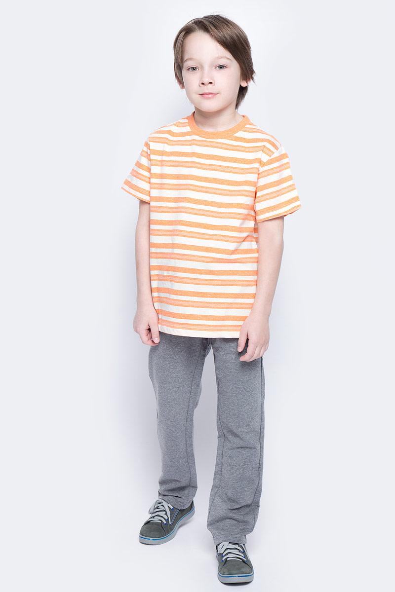 Футболка для мальчика Sela, цвет: желто-оранжевый. Ts-811/1069-7121. Размер 140, 10 летTs-811/1069-7121Стильная футболка для мальчика Sela изготовлена из натурального хлопка и оформлена принтом в полоску. Воротник дополнен мягкой трикотажной резинкой.Яркий цвет модели позволяет создавать модные образы.