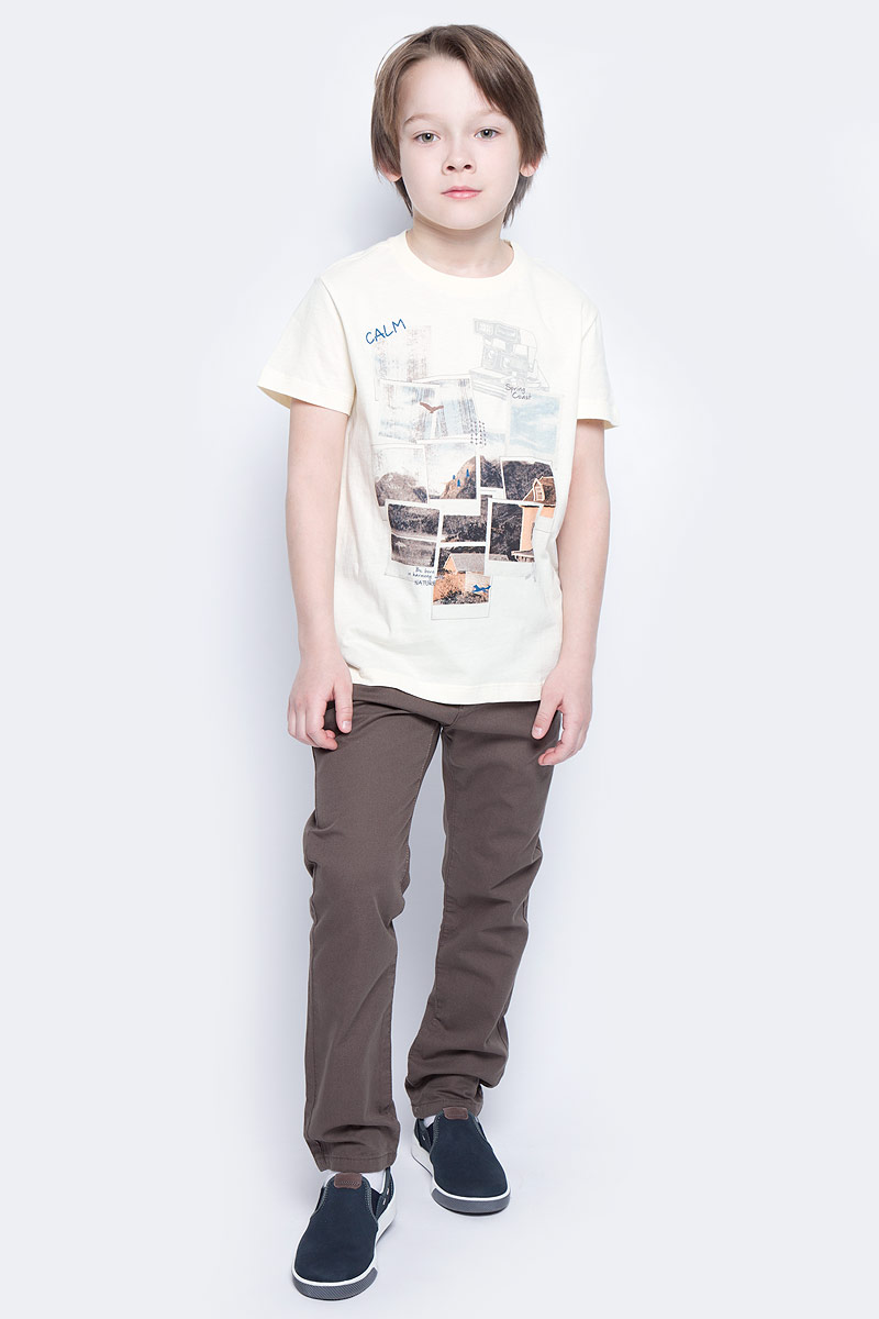Футболка для мальчика Sela, цвет: серовато-янтарный. Ts-811/1071-7213. Размер 122, 7 летTs-811/1071-7213Стильная футболка для мальчика Sela изготовлена из натурального хлопка и оформлена оригинальным принтом. Воротник дополнен мягкой трикотажной резинкой.Яркий цвет модели позволяет создавать модные образы.