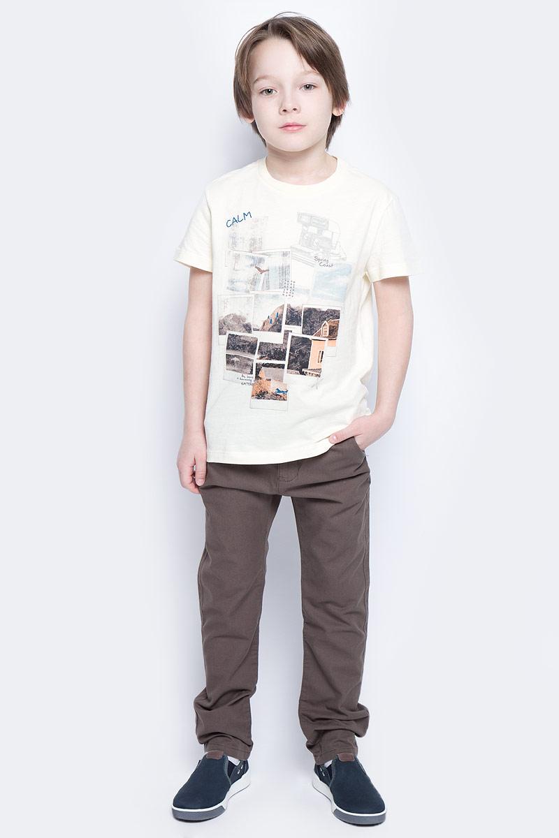 Брюки для мальчика Sela, цвет: темный хаки. P-815/254-6141. Размер 116, 6 летP-815/254-6141Стильные брюки для мальчика Sela идеально подойдут юному моднику. Изготовленные из натурального хлопка, они мягкие и приятные на ощупь, не сковывают движения и позволяют коже дышать, обеспечивая наибольший комфорт. Брюки на талии застегиваются на пуговицу и имеют ширинку на застежке-молнии, а также шлевки для ремня. С внутренней стороны пояс регулируется скрытой резинкой на пуговицах. Модель имеет пятикарманный крой: спереди - два втачных кармана и один маленький прорезной, а сзади - два прорезных кармана, закрывающихся на пуговицы.Современный дизайн и расцветка делают эти брюки модным предметом детской одежды. В них ребенок всегда будет в центре внимания!
