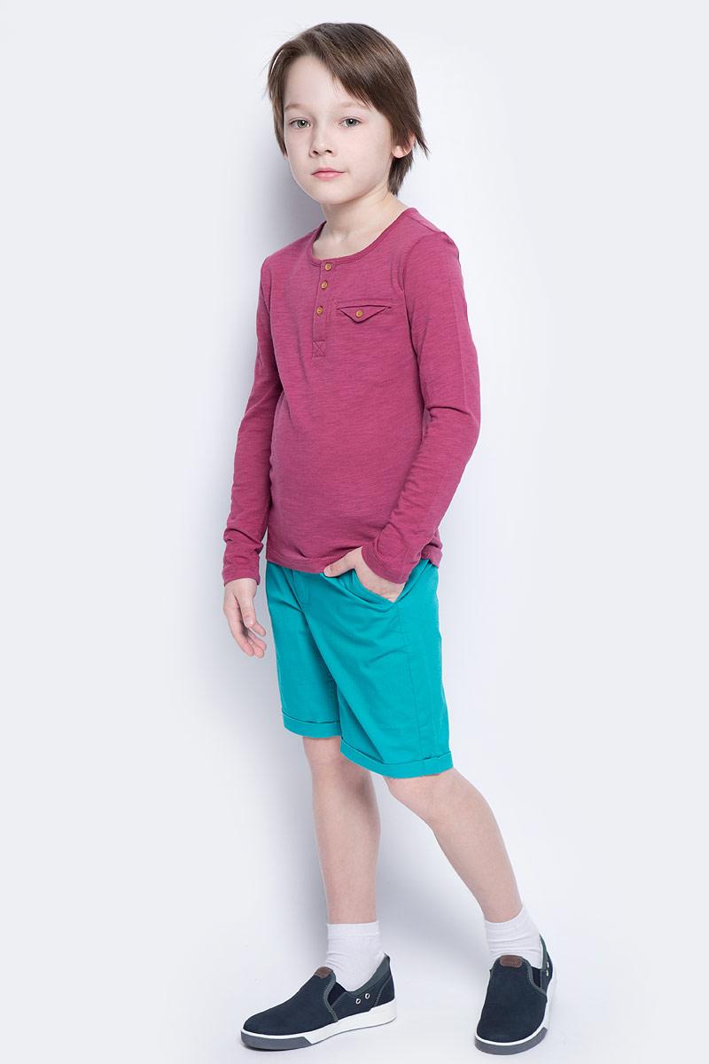 Шорты для мальчика Button Blue Main, цвет: бирюзовый. 117BBBC60022800. Размер 140, 10 лет117BBBC60022800Яркие шорты - залог стильного образа для каждого дня лета. Отличные шорты из хлопка с эластаном гарантируют прекрасный внешний вид, комфорт и свободу движений. В компании с любой майкой, футболкой, рубашкой шорты составят достойный летний комплект. Если вы хотите купить недорогие детские шорты, не сомневаясь в их качестве, высоких потребительских свойствах и соответствии модным трендам, шорты для мальчика от Button Blue - лучший вариант!