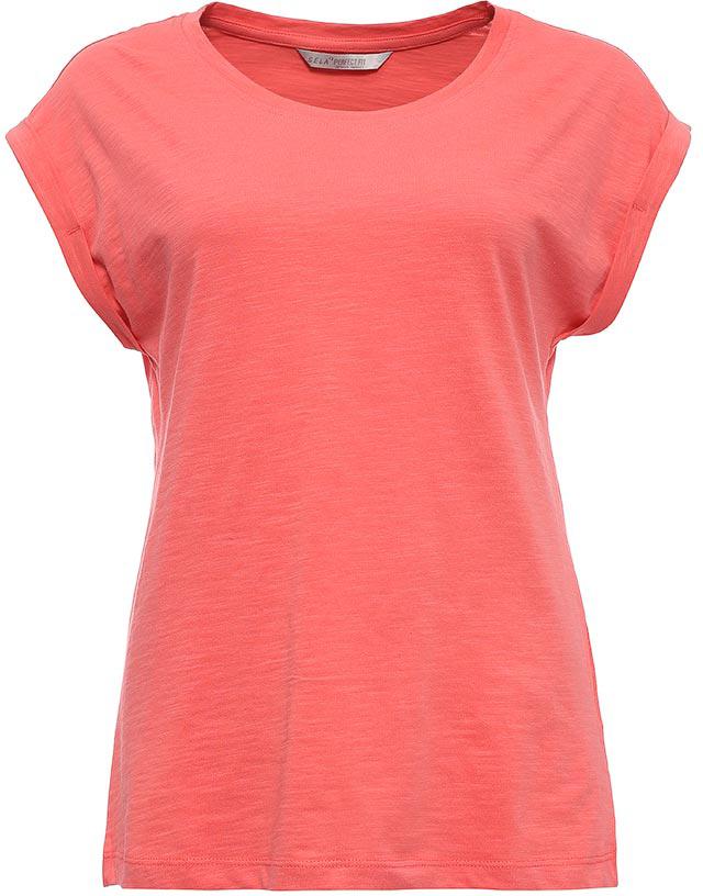 Футболка женская Sela, цвет: светло-красный. Ts-111/1220-7273. Размер S (44)Ts-111/1220-7273Стильная женская футболка Sela станет отличным дополнением к гардеробу каждой модницы. Модель полуприлегающего силуэта изготовлена из натурального хлопка и имеет короткие цельнокроеные рукава с опцией подгибки. Воротник дополнен мягкой эластичной бейкой.Универсальный цвет позволяет сочетать модель с любой одеждой.