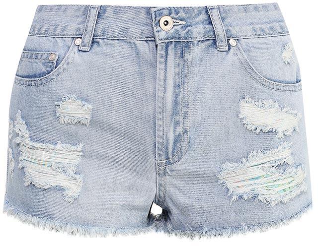 Шорты женские Sela Denim, цвет: голубой джинс. SHJ-335/602-7214. Размер 26 (42)SHJ-335/602-7214Женские джинсовые шорты Sela, изготовленные из качественного хлопкового материала, станут отличным дополнением гардероба в летний период. Короткие шорты прямого кроя и стандартной посадки на талии застегиваются на застежку-молнию и пуговицу и оформлены разрезами и бахромой по низу. На поясе имеются шлевки для ремня. Модель дополнена двумя втачными и накладным карманами спереди и двумя накладными карманами сзади.