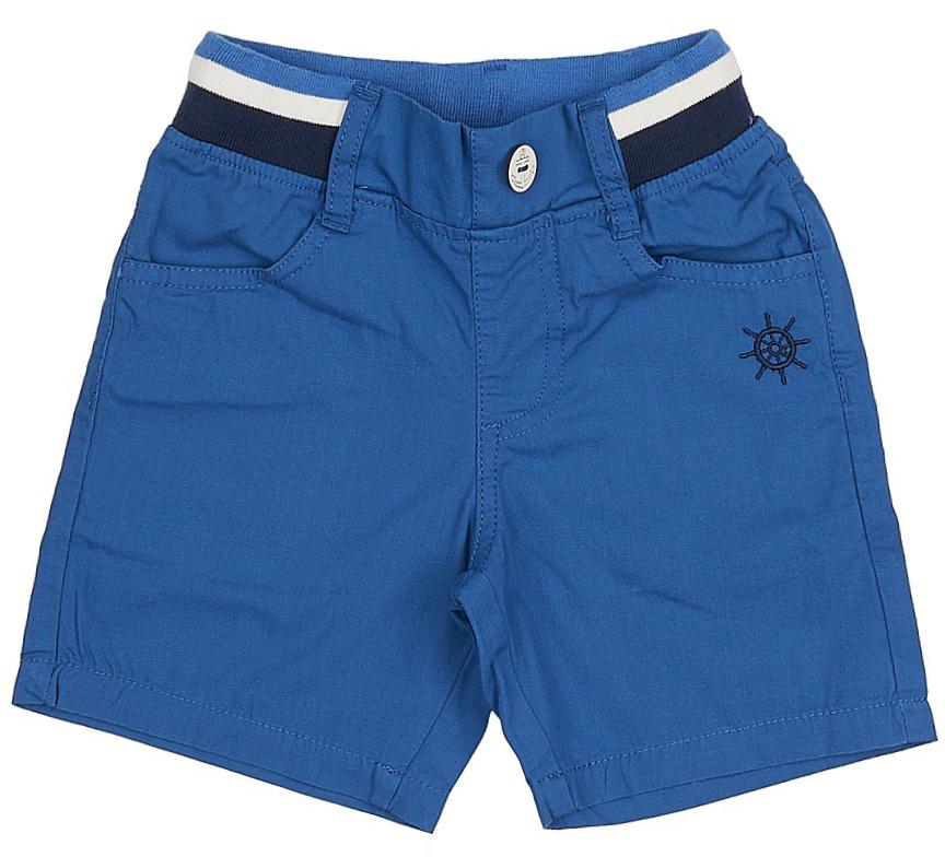 Шорты для мальчика Sela, цвет: индиго. SH-715/098-7213. Размер 104, 4 годаSH-715/098-7213Стильные шорты в морском стиле для мальчика Sela, изготовленные из натурального хлопка, станут отличным дополнением гардероба в летний период. Шорты прямого кроя до колен и стандартной посадки на талии имеют пояс на мягкой резинке с контрастными полосками и декоративной пуговицей. На поясе имеются шлевки для ремня. Модель дополнена двумя втачными карманами спереди и двумя накладными карманами сзади.