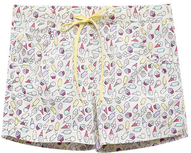 Шорты для девочки Sela, цвет: бежевый. SH-515/384-7215. Размер 98, 3 годаSH-515/384-7215Яркие шорты для девочки Sela, изготовленные из натурального хлопка, станут отличным дополнением гардероба в летний период. Шорты прямого кроя дополнены двумя втачными карманами и оформлены ярким принтом и разрезами по бокам брючин. Модель стандартной посадки на талии имеет пояс на мягкой резинке, дополнительно регулируемый тесьмой.