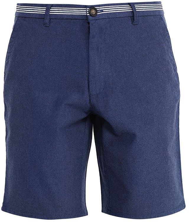 Шорты мужские Sela, цвет: индиго. SH-215/534-7214. Размер M (48)SH-215/534-7214Стильные мужские шорты Sela, изготовленные из качественного трикотажа, станут отличным дополнением гардероба в летний период. Шорты прямого кроя и стандартной посадки на талии застегиваются на застежку-молнию и пуговицу. На поясе с контрастными полосками имеются шлевки для ремня. Модель дополнена двумя втачными карманами спереди и двумя накладными карманами сзади.