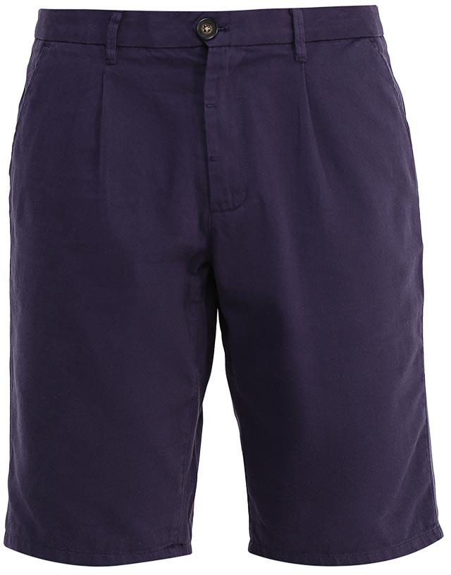 Шорты мужские Sela, цвет: темно-синий. SH-215/531-7224. Размер 52SH-215/531-7224Стильные мужские шорты Sela, изготовленные из качественного хлопкового материала, станут отличным дополнением гардероба в летний период. Шорты прямого кроя с опцией подгибки и стандартной посадки на талии застегиваются на застежку-молнию и пуговицу. На поясе имеются шлевки для ремня. Модель дополнена двумя втачными карманами спереди и двумя прорезными карманами на пуговицах сзади.