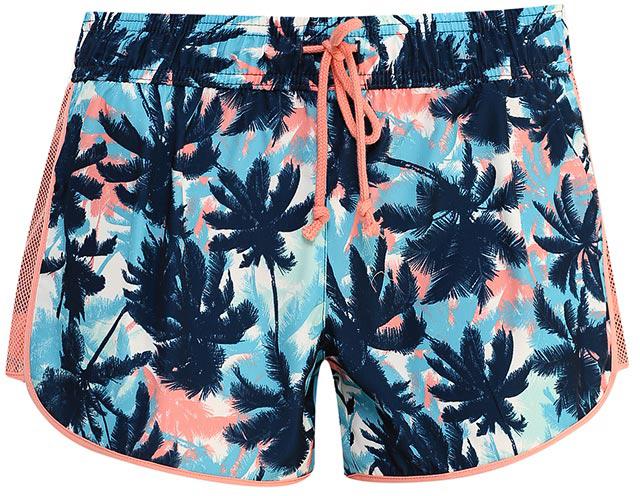Шорты женские Sela, цвет: ярко-голубой. SH-115/824-7234. Размер 42SH-115/824-7234Удобные женские шорты Sela отлично подойдут для отдыха или занятий спортом. Шорты прямого кроя выполнены из качественноголегкого материала и оформлены ярким растительным принтом. Модель стандартной посадки на талии имеет пояс на мягкой резинке, дополнительно регулируемый шнурком. По бокам имеются сетчатые вставки.