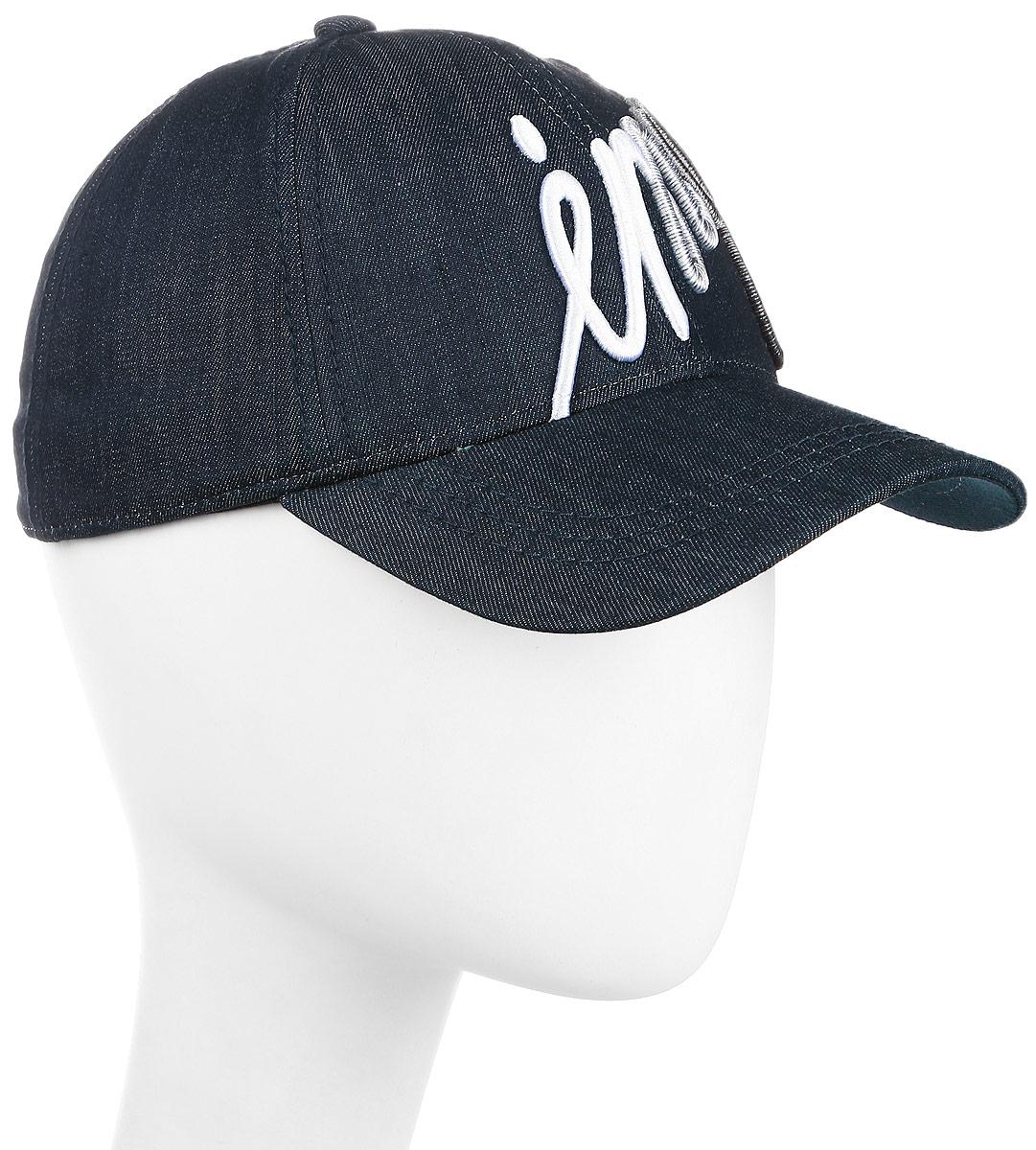 Бейсболка мужская Imojo, цвет: темно-синий. BY131048. Размер 57/59BY131048Классическая форма, с оригинальным принтом.