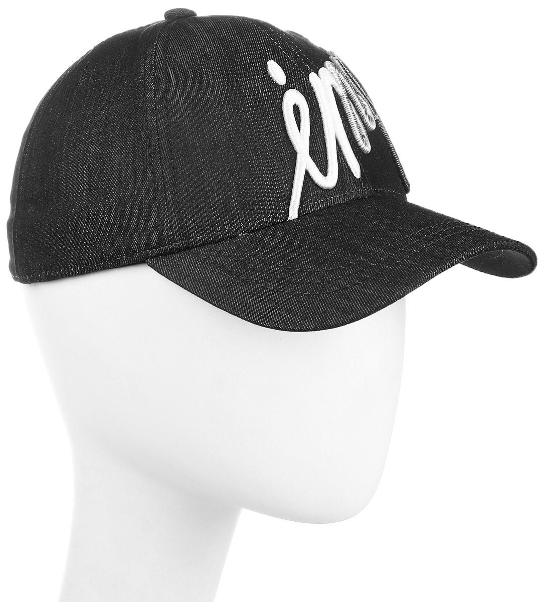 Бейсболка мужская Imojo, цвет: черный. BY131048. Размер 57/59BY131048Классическая форма, с оригинальным принтом.