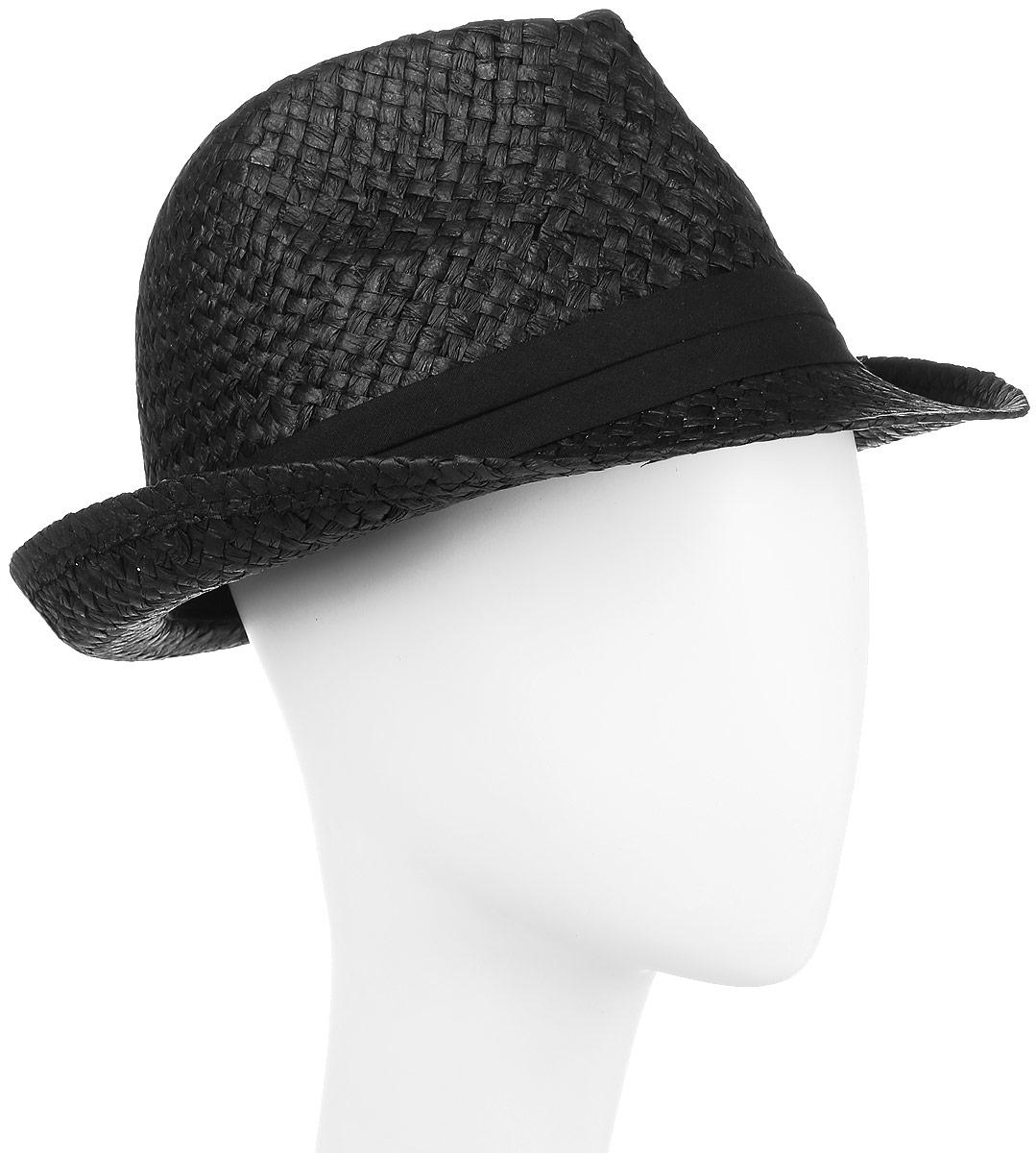 Шляпа муж Imojo, цвет: черный. HtY131004. Размер 58HtY131004Молодежная шляпа с ремешком.