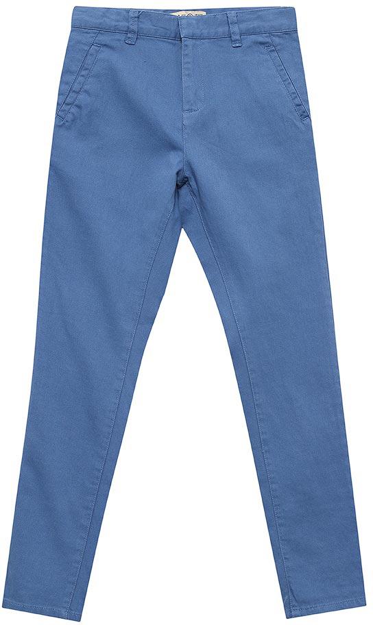 Брюки для мальчика Sela, цвет: индиго. P-815/342-7213. Размер 152, 12 летP-815/342-7213Стильные брюки для мальчика Sela выполнены из качественного хлопкового материала. Брюки зауженного кроя и стандартной посадки на талии застегиваются на скрытую кнопку и имеют ширинку на застежке-молнии. На поясе имеются шлевки для ремня. Модель стандартной длиныс опцией подгибки на 7/8дополнена прорезными карманами спереди и двумя прорезными карманами на пуговицах сзади.