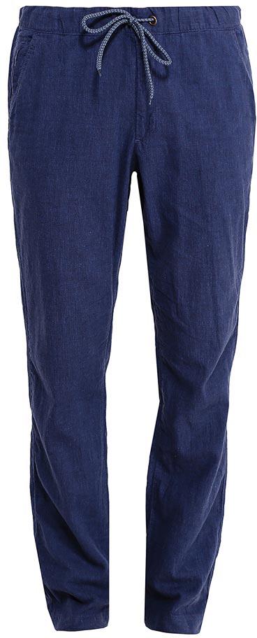 Брюки мужские Sela, цвет: индиго. P-215/536-7213. Размер 48P-215/536-7213Стильные мужские брюки Sela, изготовленные изо льна с добавлением хлопка, станут отличным дополнением гардероба. Брюки полуприлегающего кроя и стандартной посадки на талии имеют широкий пояс на мягкой резинке, дополнительно регулируемый шнурком. Модель дополнена двумя втачными карманами спереди и двумя прорезными карманами сзади.