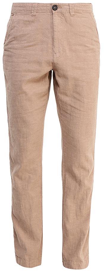 Брюки мужские Sela, цвет: светло-коричневый. P-215/530-7224. Размер 52P-215/530-7224Стильные мужские брюки Sela, изготовленные изо льна с добавлением хлопка, станут отличным дополнением гардероба. Брюки полуприлегающего кроя и стандартной посадки на талии застегиваются на застежку-молнию и пуговицу. На поясе имеются шлевки для ремня. Модель дополнена двумя втачными карманами спереди и двумя прорезными карманами на пуговицах сзади.
