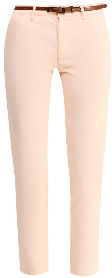 Брюки женские Sela, цвет: пепельно-персиковый. P-115/102-7244. Размер 44P-115/102-7244Стильные укороченные брюкиSela, изготовленные из качественного эластичного материала, станут отличным дополнением вашего гардероба. Брюки зауженного кроя и стандартной посадки на талии застегиваются на застежку-молнию и пуговицу. На поясе имеются шлевки для ремня. Модель дополнена двумя втачными карманами спереди и двумя прорезными карманами сзади. В комплект с брюками входит узкий ремень из искусственной кожи.