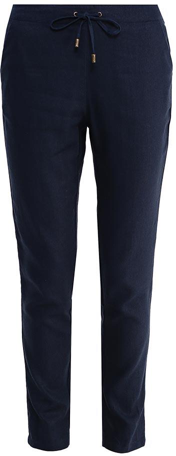 Брюки женские Sela, цвет: темно-синий. P-115/099-7254. Размер 44P-115/099-7254Стильные укороченные брюкиSela, изготовленные изо льна с добавлением хлопка, станут отличным дополнением гардероба в летний период. Брюки силуэта морковь (свободные на бедрах, с зауженными к низу штанинами) и стандартной посадки на талии имеют широкий пояс на мягкой резинке, дополнительно регулируемый шнурком. Модель дополнена двумя прорезными карманами.