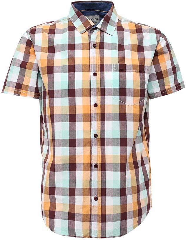 Рубашка мужская Sela, цвет: белый. Hs-212/762-7214. Размер 42 (48)Hs-212/762-7214Стильная мужская рубашка Sela выполнена из натурального хлопка и оформлена принтом в клетку. Модель прямого кроя с короткими рукавами и отложным воротничком застегивается на пуговицы и дополнена накладным карманом на груди. Универсальный цвет позволяет сочетать модель с любой одеждой.