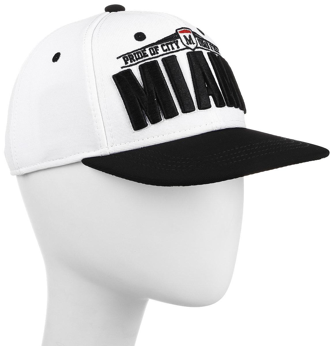 Бейсболка мужская Imojo, цвет: белый. BY151059. Размер 56/58BY151059Модная бейсболка-рэперка