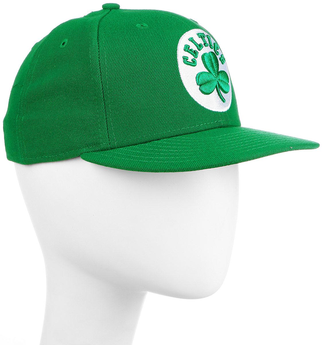 Бейсболка New Era Nba Team Boston Celtics, цвет: зеленый. 11379793-GRN. Размер 7 1/2 (59)11379793-GRNСтильная бейсболка New Era, выполненная из высококачественного материала, идеально подойдет для прогулок, занятий спортом и отдыха.Изделие оформлено объемным вышитым логотипом знаменитой бейсбольной команды Boston Celtics.