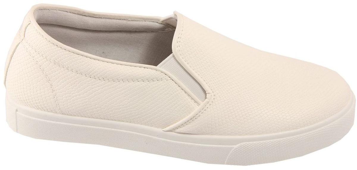 Слипоны женские In Step, цвет: белый. A202-3. Размер 41A202-3Стильные женские слипоны от In Step выполнены из искусственной кожи. Подошва из полимера устойчива к изломам. На подъеме модель дополнена эластичными вставками для удобства надевания. Аккуратно смотрятся на ноге, комфортно носятся.