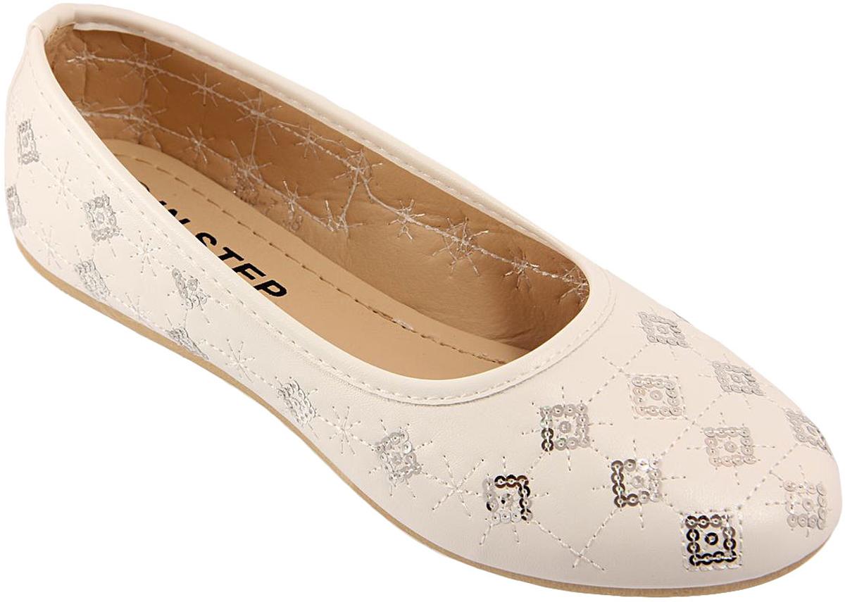 Балетки женские In Step, цвет: белый. OH3-7. Размер 39OH3-7Стильные женские балетки от In Step, оформленные принтом, выполнены из искусственной кожи. Подошва из полимера устойчива к изломам. Аккуратно смотрятся на ноге, комфортно носятся.