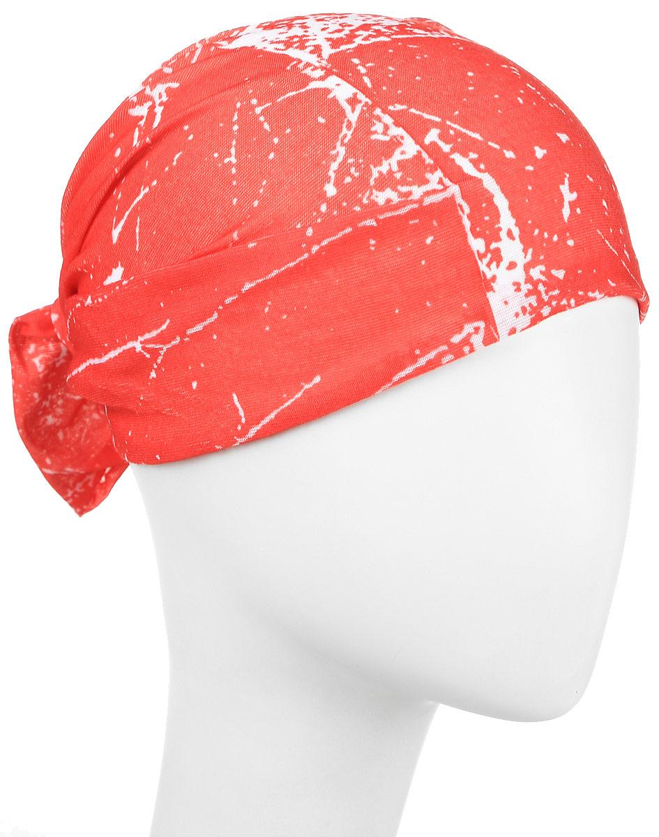 Повязка на голову Maxval, цвет: красный. PoY100246. Размер универсальныйPoY100246Повязка на голову Maxval выполнена из хлопка с эластаном в яркой цветовой гамме. Размер универсальный. Возможны различные варианты носки.