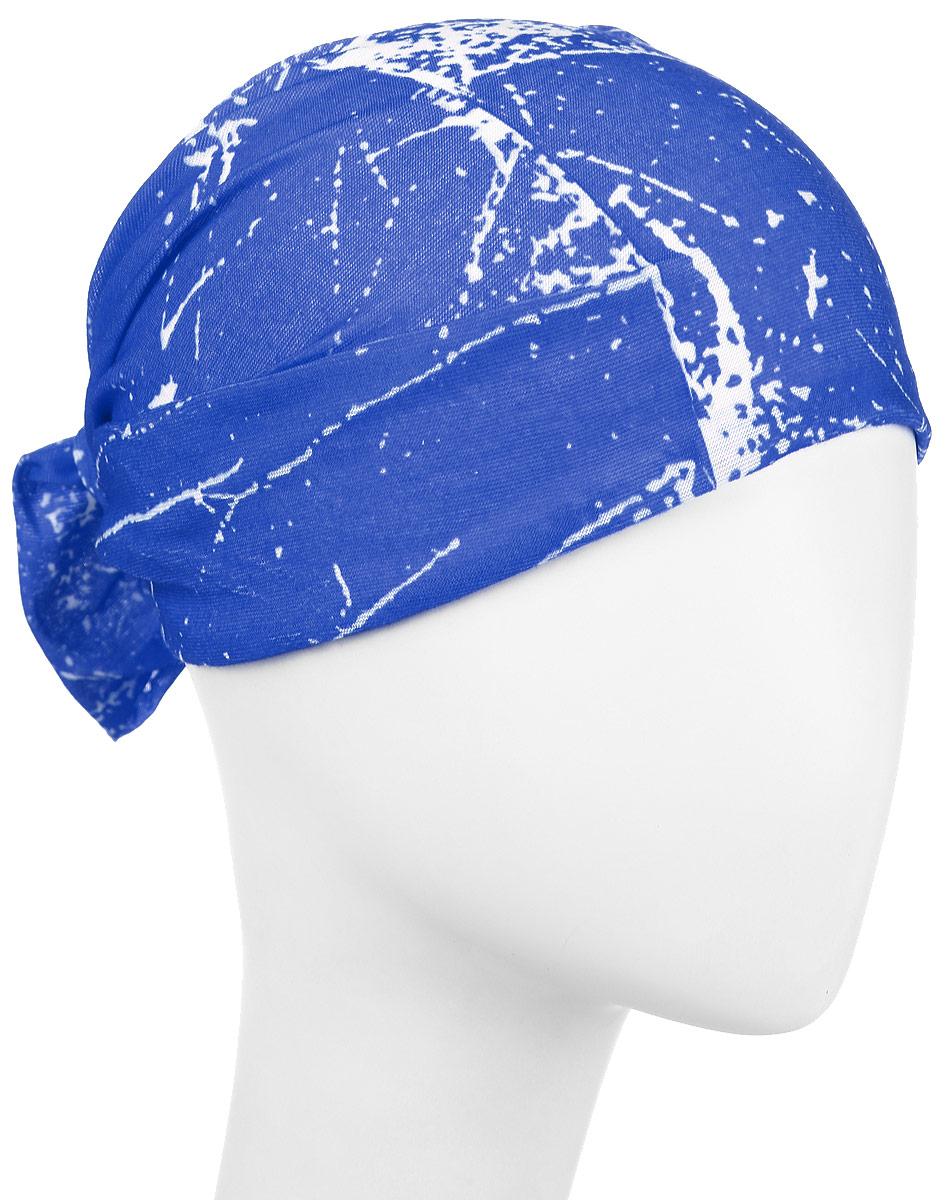 Повязка на голову Maxval, цвет: синий. PoY100246. Размер универсальныйPoY100246Повязка на голову Maxval выполнена из хлопка с эластаном в яркой цветовой гамме. Размер универсальный. Возможны различные варианты носки.