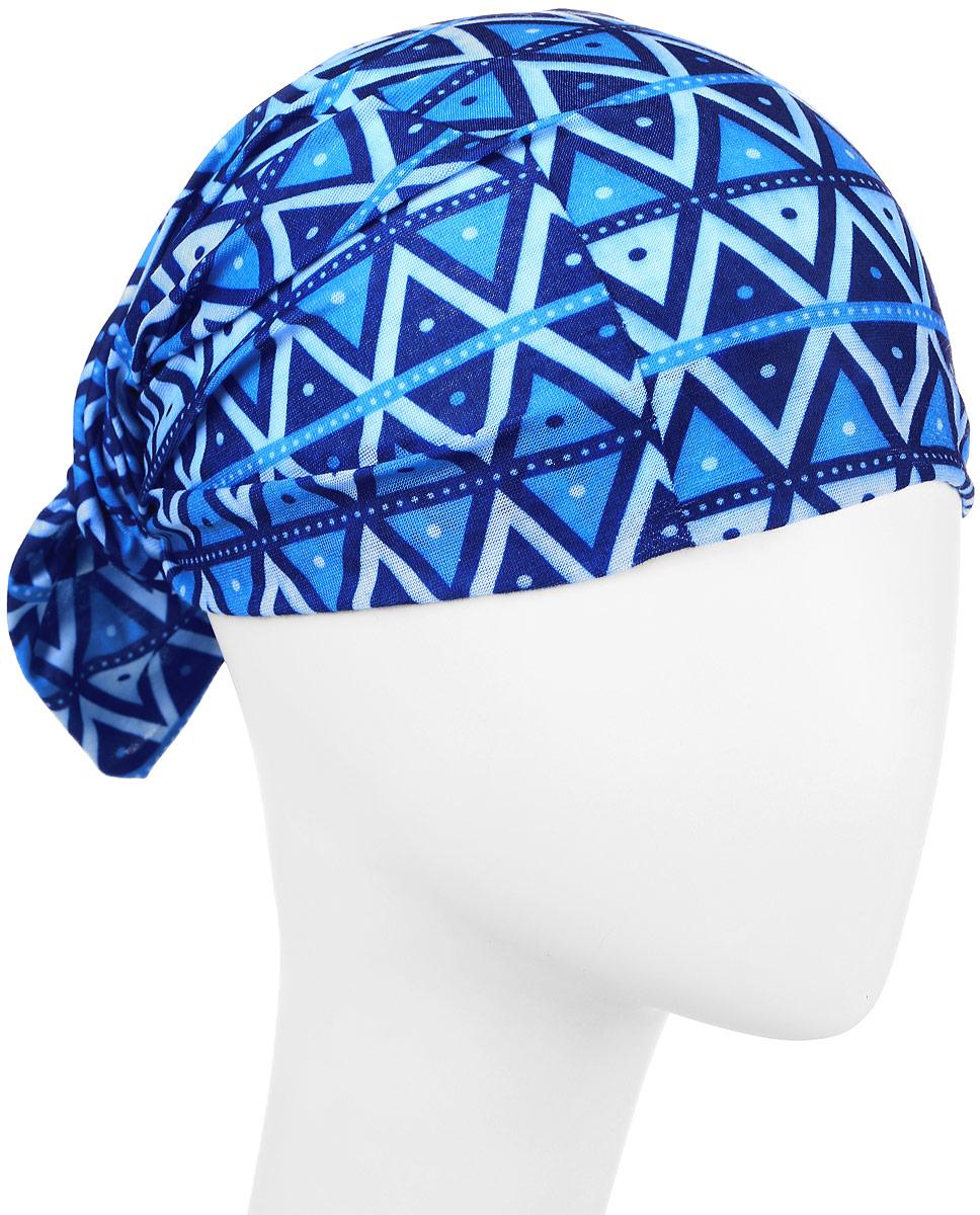 Повязка на голову Maxval, цвет: синий. PoY100239. Размер универсальныйPoY100239Повязка на голову Maxval выполнена из хлопка с эластаном в яркой цветовой гамме. Размер универсальный. Возможны различные варианты носки.