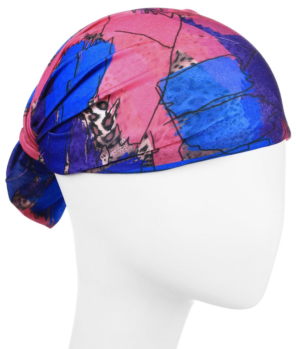 Повязка на голову Maxval, цвет: синий. PoY100223. Размер универсальныйPoY100223Повязка на голову Maxval выполнена из хлопка с эластаном в яркой цветовой гамме. Размер универсальный. Возможны различные варианты носки.
