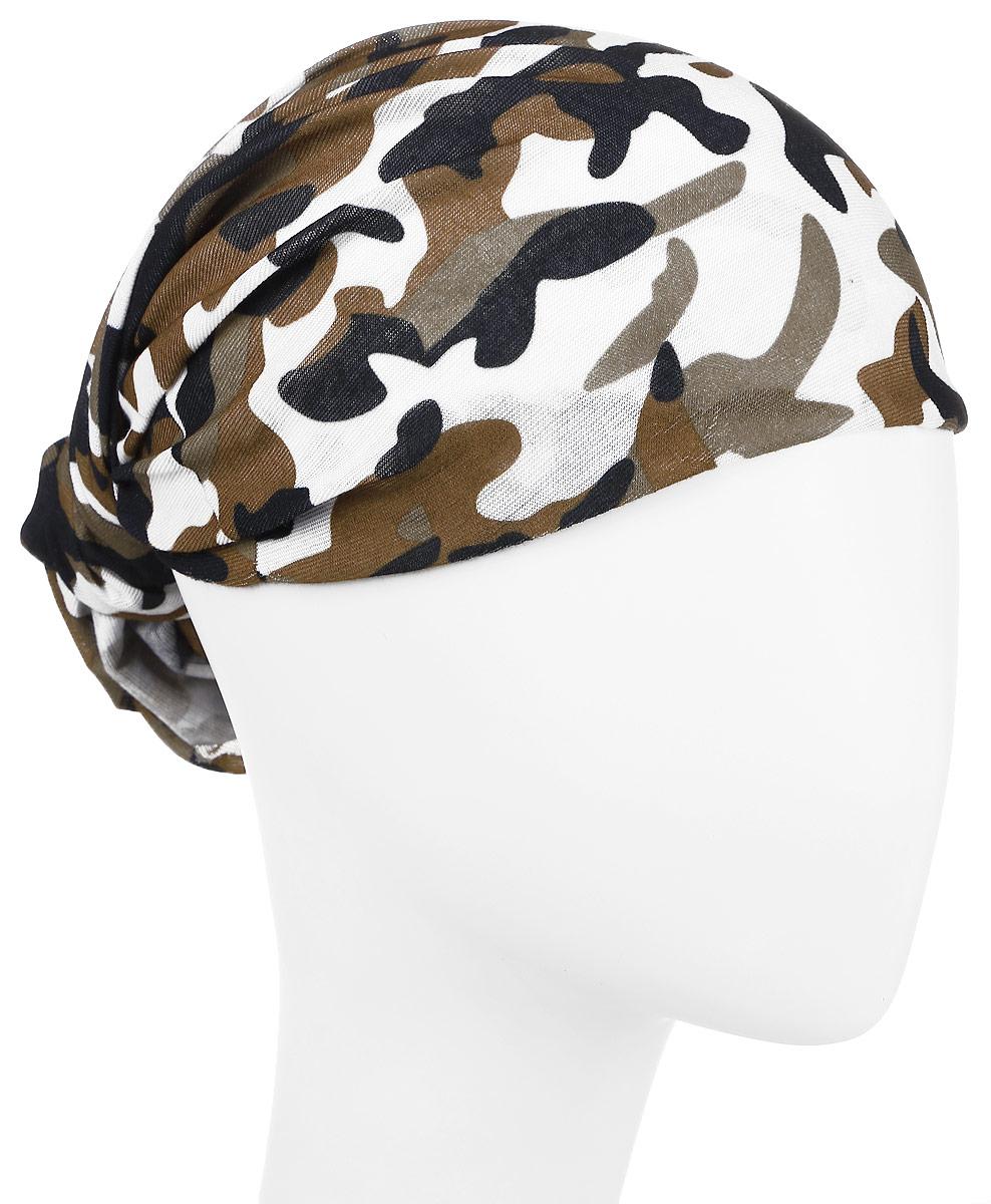 Повязка на голову Maxval, цвет: коричневый. PoY100221. Размер универсальныйPoY100221Повязка на голову Maxval выполнена из хлопка с эластаном в яркой цветовой гамме. Размер универсальный. Возможны различные варианты носки.